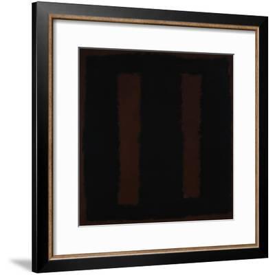 Untitled {Black on Maroon} [Seagram Mural Sketch]-Mark Rothko-Framed Giclee Print