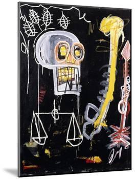 Untitled (Black Skull)-Jean-Michel Basquiat-Mounted Giclee Print