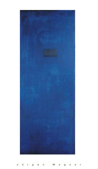 Untitled (Blue)-J?rgen Wegner-Serigraph