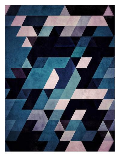 Untitled (blux redux)-Spires-Art Print