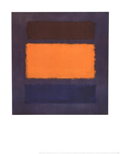 Untitled, Brown and Orange on Maroon-Mark Rothko-Art Print