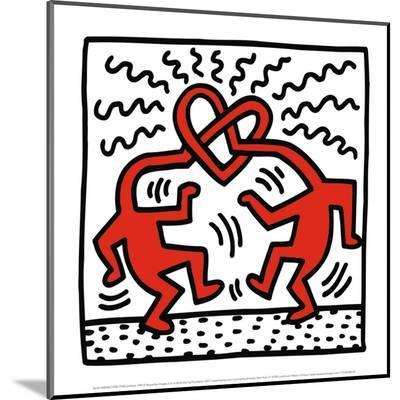 Untitled, c.1989-Keith Haring-Mounted Print