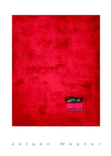 Untitled, c.1991 (Red)-J?rgen Wegner-Serigraph