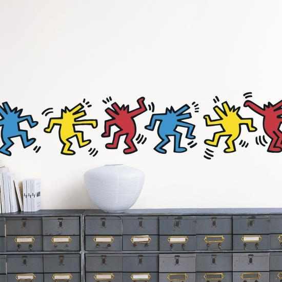 untitled (dancing dogs) wall decalkeith haring   art