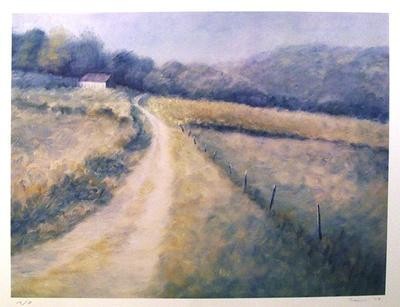Untitled (Farm Lane)-David Cain-Collectable Print