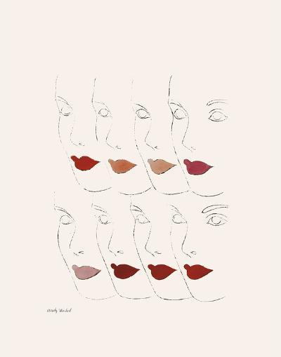 Untitled (Female Faces), c. 1960-Andy Warhol-Art Print
