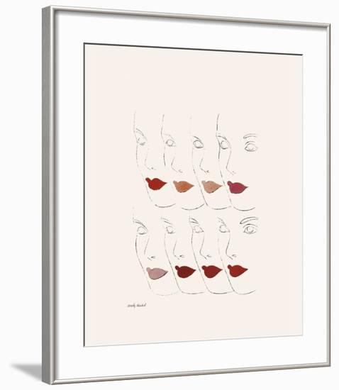 Untitled (Female Faces), c. 1960-Andy Warhol-Framed Giclee Print