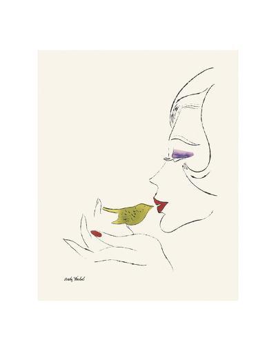 Untitled (Female Head), c. 1958-Andy Warhol-Art Print