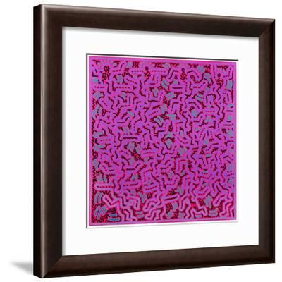 Untitled, June 1, 1984-Keith Haring-Framed Giclee Print