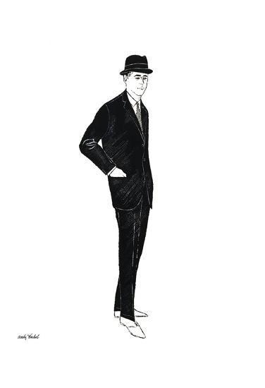 Untitled (Male Fashion Figure), c. 1960-Andy Warhol-Art Print