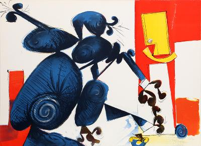 Untitled - Man and Bird II-Dimitri Petrov-Limited Edition