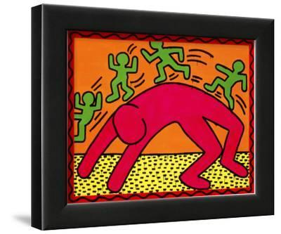 Untitled, October 7, 1982-Keith Haring-Framed Giclee Print