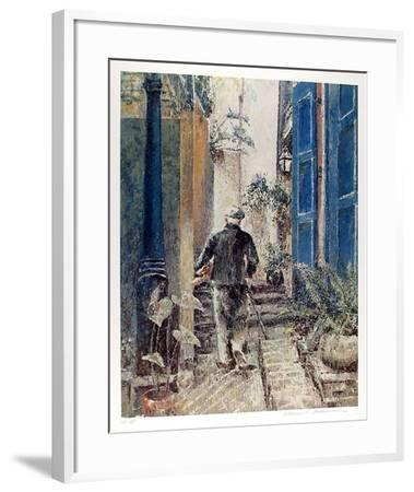 Untitled (Old Man and Stairs)-William Collier-Framed Collectable Print