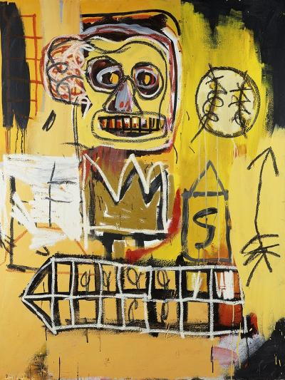 Untitled (Orange Sports Figure)-Jean-Michel Basquiat-Giclee Print