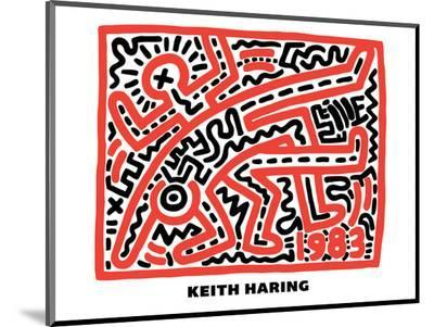 Untitled Pop Art-Keith Haring-Mounted Print
