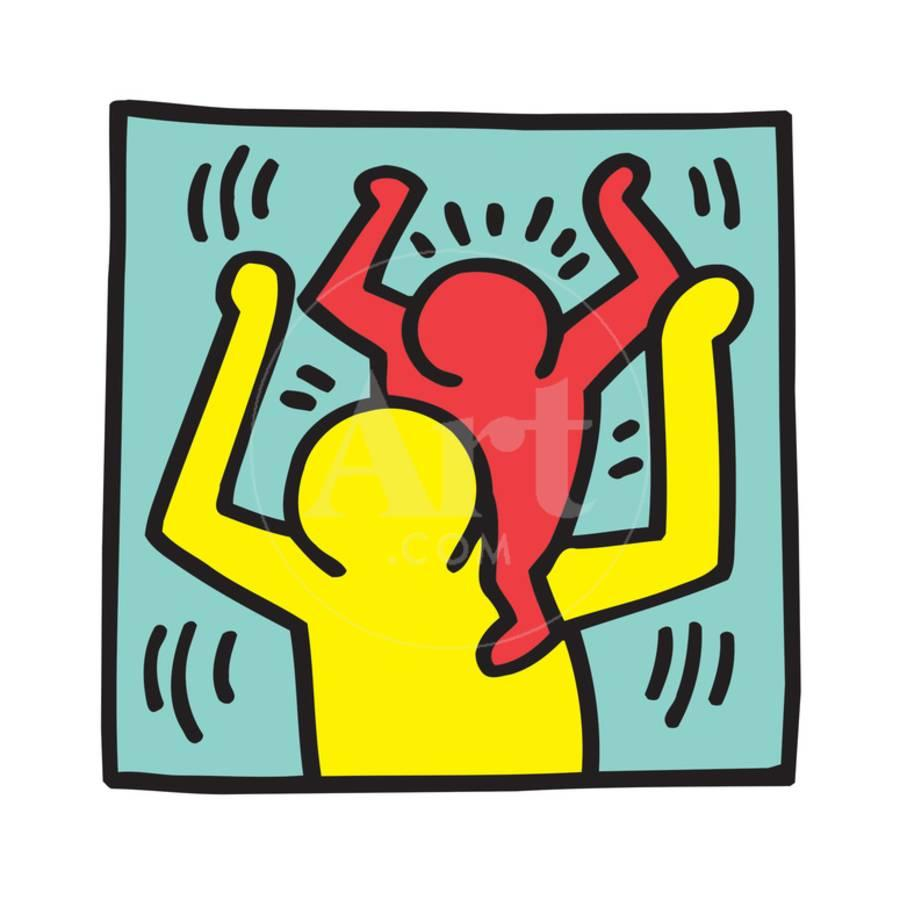 Untitled Pop Art Giclee Print by Keith Haring | Art.com