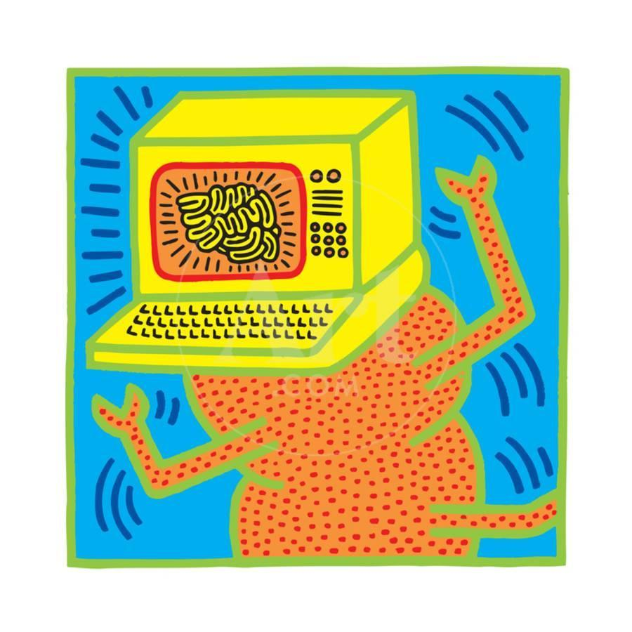 Untitled Pop Art Giclee Print by Keith Haring | the NEW Art.com