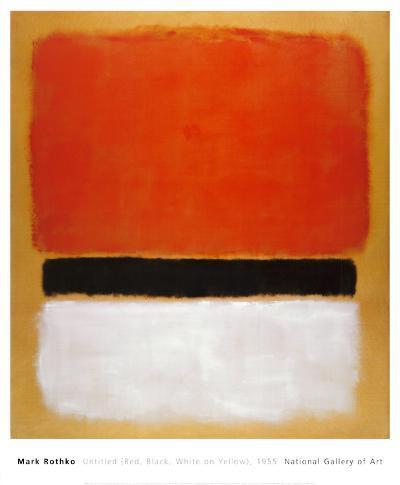 Untitled (Red, Black, White on Yellow), 1955-Mark Rothko-Art Print