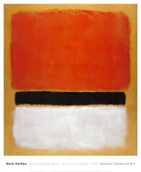 Untitled (Red, Black, White on Yellow), 1955-Mark Rothko-Art Print