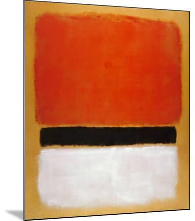 Untitled (Red, Black, White on Yellow), 1955-Mark Rothko-Mounted Print