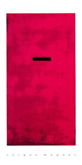 Untitled (Red)-J?rgen Wegner-Serigraph