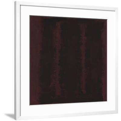 Untitled {Sketch for Mural/ Black on Maroon} [Seagram Mural Sketch]-Mark Rothko-Framed Giclee Print