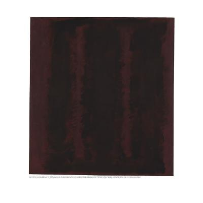 Untitled {Sketch for Mural/ Black on Maroon} [Seagram Mural Sketch]-Mark Rothko-Giclee Print