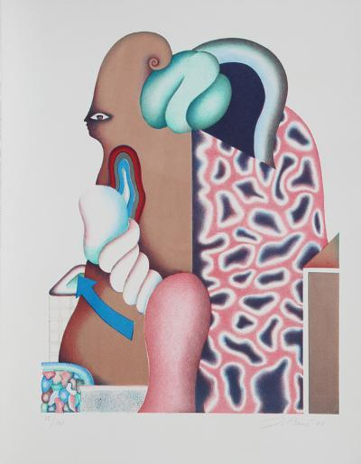 Untitled - Surrealist Portrait I-Jorg Reme-Limited Edition
