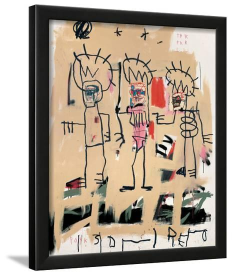 Untitled Three Kings Framed Giclee Print By Jean Michel Basquiat