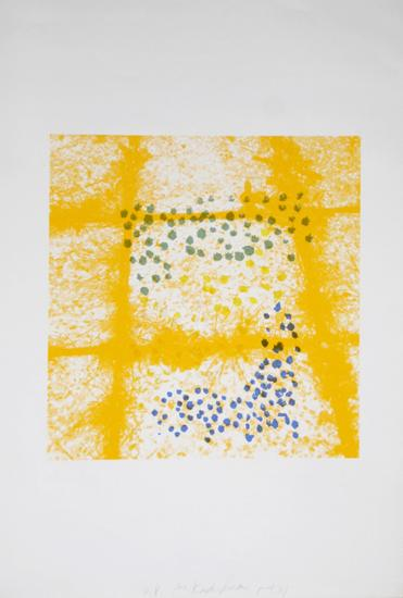 Untitled - Tiles Yellow-Menashe Kadishman-Collectable Print