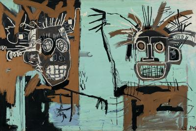 Untitled (Two Heads on Gold) 1982-Jean-Michel Basquiat-Giclee Print