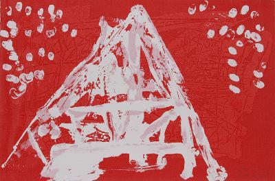 Untitled VI - Red Triangle-Lea Nikel-Limited Edition