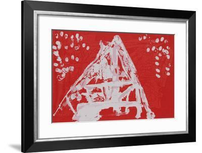 Untitled VI - Red Triangle-Lea Nikel-Framed Limited Edition