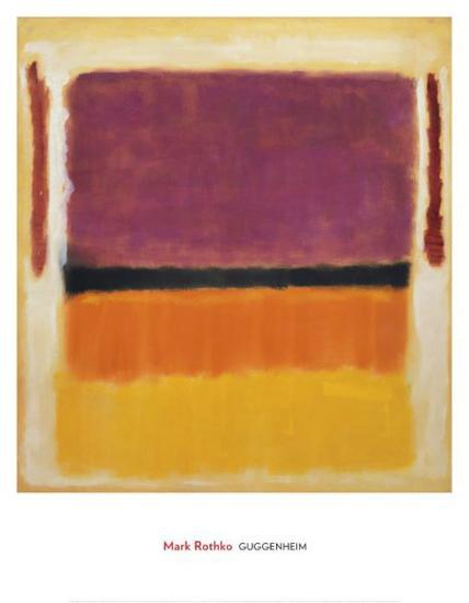Untitled (Violet, Black, Orange, Yellow on White and Red), 1949-Mark Rothko-Art Print