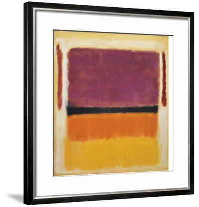 Untitled (Violet, Black, Orange, Yellow on White and Red), 1949-Mark Rothko-Framed Art Print