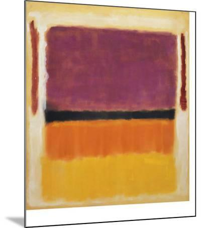 Untitled (Violet, Black, Orange, Yellow on White and Red), 1949-Mark Rothko-Mounted Art Print