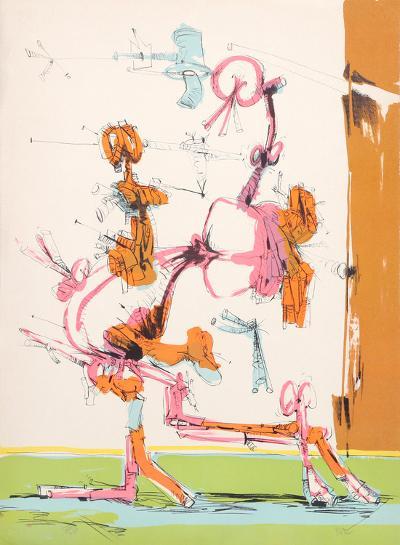Untitled - Walking Figure-Dimitri Petrov-Limited Edition