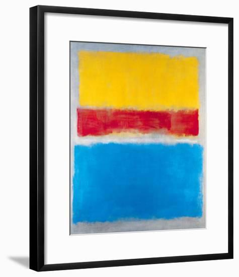 Untitled (Yellow, Red and Blue)-Mark Rothko-Framed Art Print