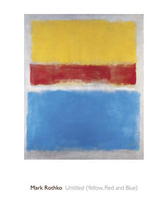 Untitled (Yellow, Red and Blue)-Mark Rothko-Giclee Print
