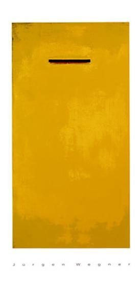 Untitled (Yellow)-J?rgen Wegner-Serigraph