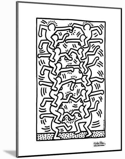 Untitled-Keith Haring-Mounted Art Print