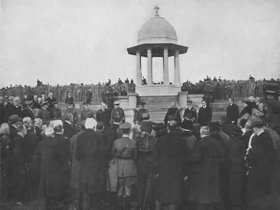 'Unveiling of the Chattri by H.R.H. The Prince of Wales, 1st February 1921', (1939)-Unknown-Photographic Print