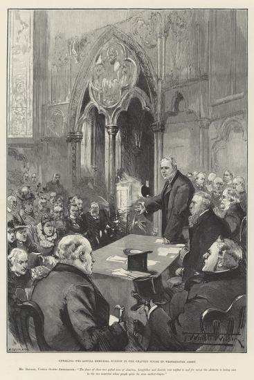 Unveiling the Lowell Memorial Window in the Chapter House of Westminster Abbey-Thomas Walter Wilson-Giclee Print