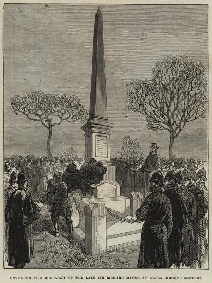 Unveiling the Monument of the Late Sir Richard Mayne at Kensal-Green Cemetery--Giclee Print