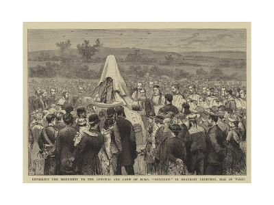 Unveiling the Monument to the Officers and Crew of HMS Eurydice in Shanklin Cemetery, Isle of Wight-Joseph Nash-Giclee Print