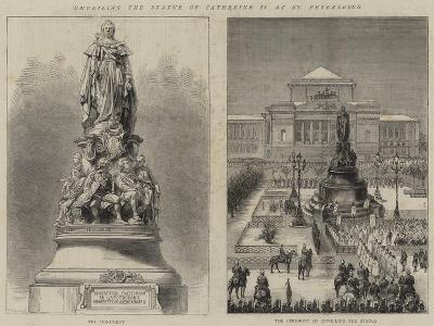 Unveiling the Statue of Catherine II at St Petersburg--Giclee Print