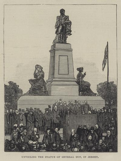 Unveiling the Statue of General Don, in Jersey--Giclee Print