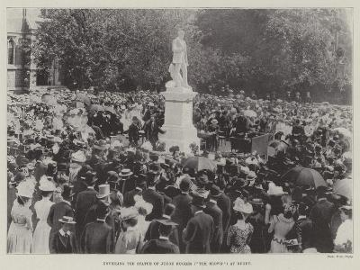 Unveiling the Statue of Judge Hughes (Tom Brown) at Rugby--Giclee Print