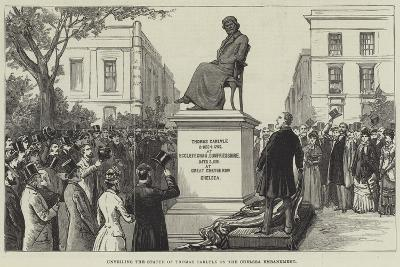Unveiling the Statue of Thomas Carlyle on the Chelsea Embankment--Giclee Print