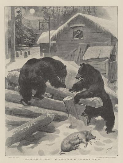 Unwelcome Visitors, an Adventure in Northern Canada-William Small-Giclee Print